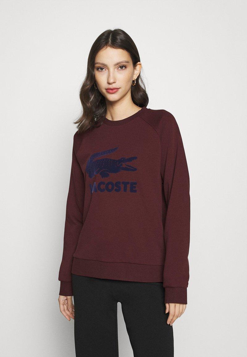 Lacoste - Sweatshirt - pruneau/marine