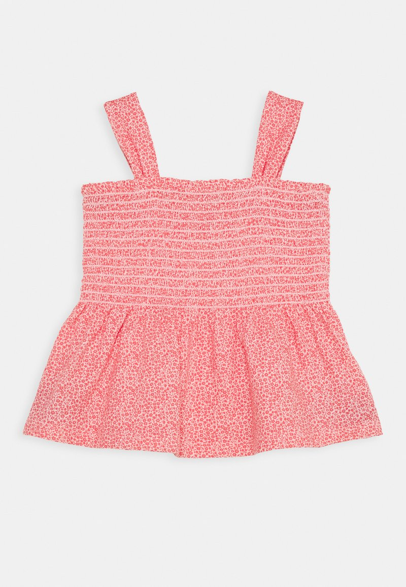 GAP - GIRL SMOCKED TANK - Triko spotiskem - satiny pink
