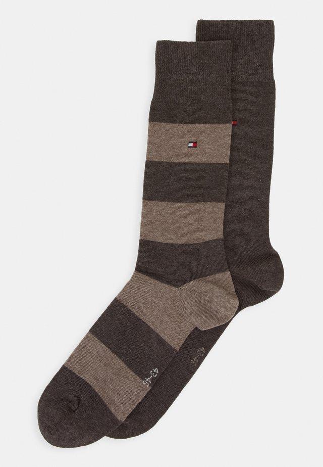 2 PACK - Ponožky - brown
