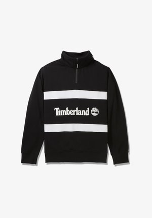 CUT AND SEW FUNNEL NECK - Sweater - black