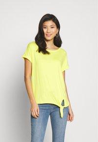 s.Oliver - KURZARM - Basic T-shirt - yellow - 0