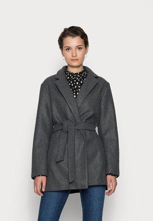 ONLTRILLION BELT COATIGAN - Klassinen takki - medium grey melange