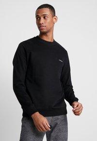 Calvin Klein - LOGO EMBROIDERY - Felpa - black - 0