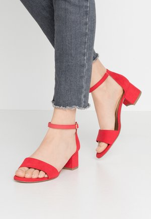 WOMS SANDALS - Ankle cuff sandals - fire