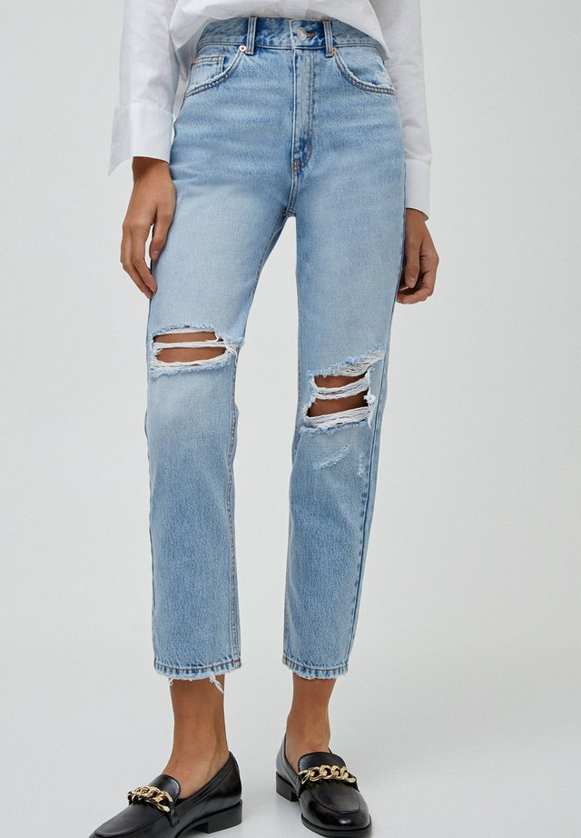 MOM - Jeans Relaxed Fit - mottled light blue