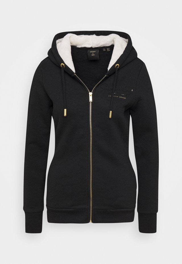 ESTABLISHED ZIP HOOD - Felpa aperta - black