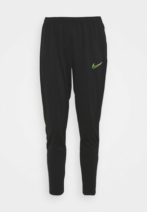 PANT - Tracksuit bottoms - black/green strike