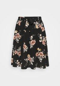 ONLY Carmakoma - CARLUXCILLE MIDI BELT SKIRT - A-line skirt - black - 3