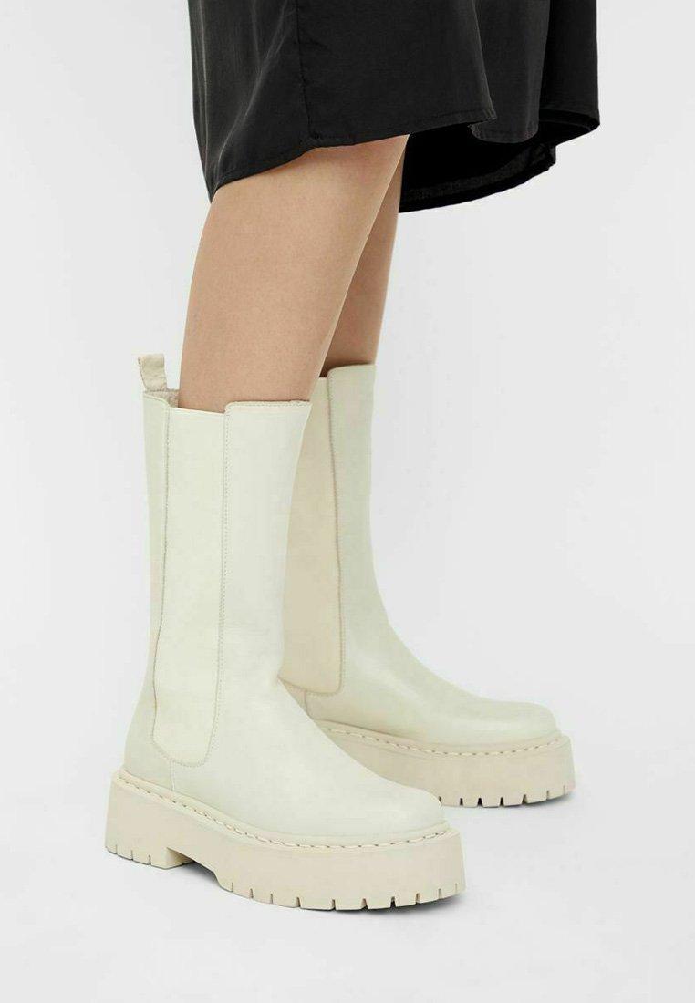 Bianco - BIADEB LONG BOOT - Platform boots - ice