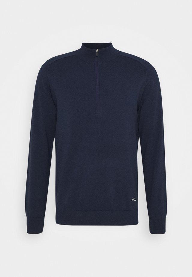 MEN KIRK FRONT LOGO - Sweater - atlanta blue melange