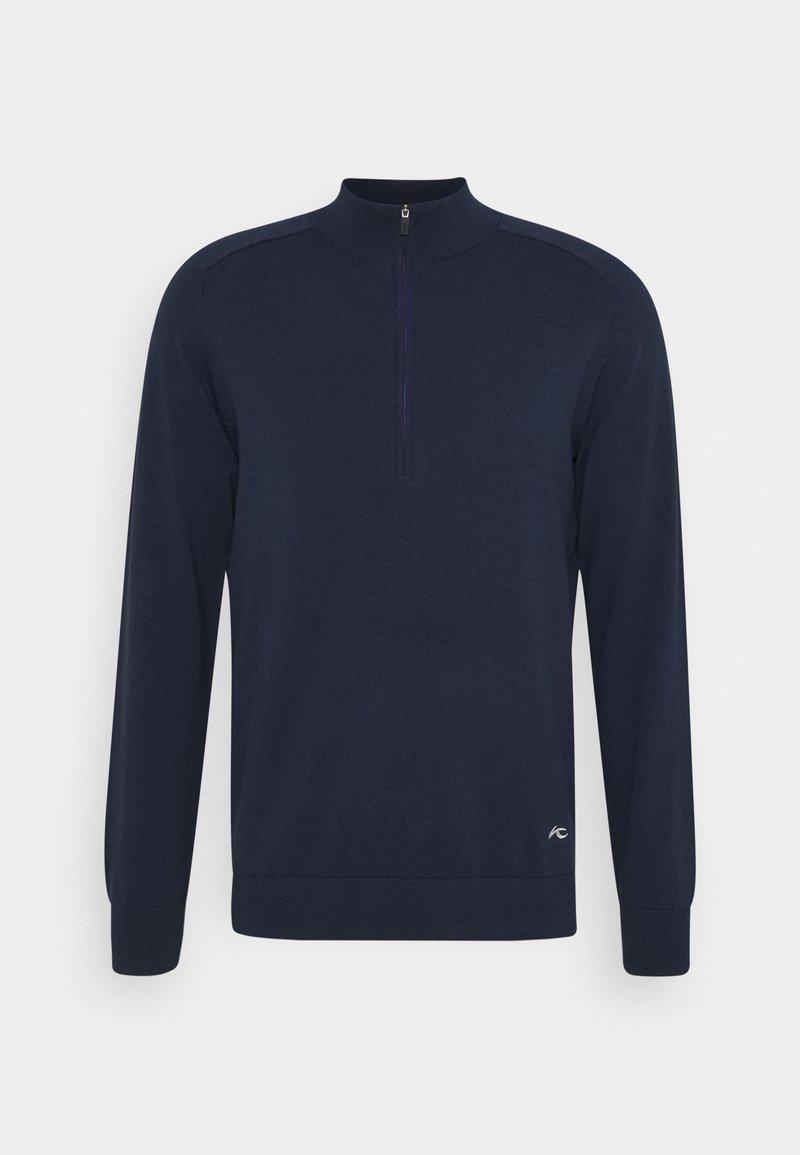 Kjus - MEN KIRK FRONT LOGO - Sweatshirt - atlanta blue melange