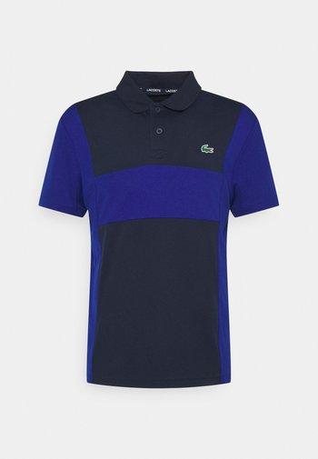 TENNIS BLOCK - Poloshirt - navy blue/cosmic