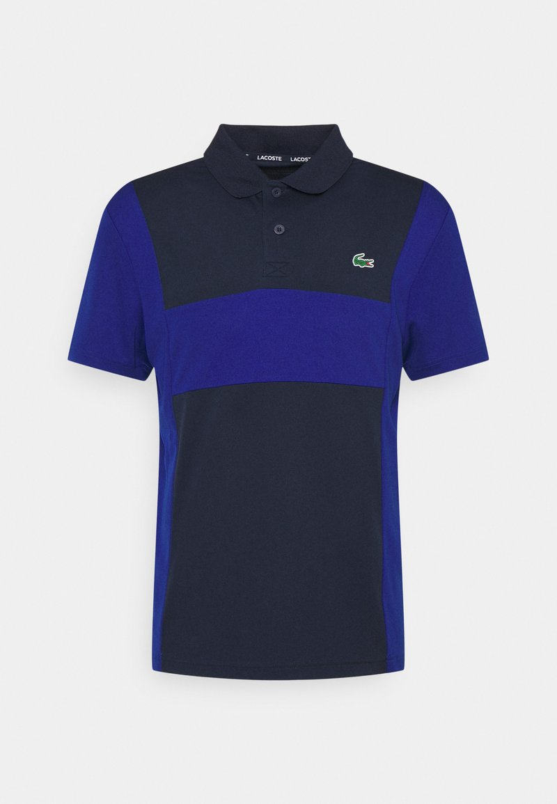 Lacoste Sport - TENNIS BLOCK - Polo shirt - navy blue/cosmic