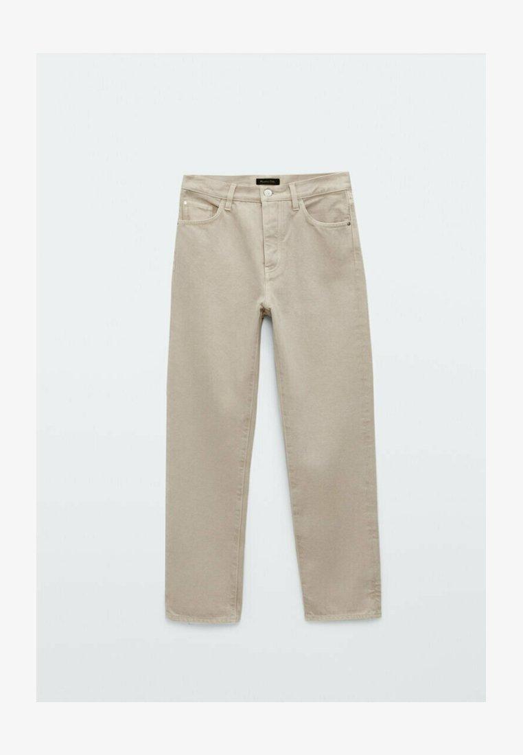 Massimo Dutti - Straight leg jeans - stone