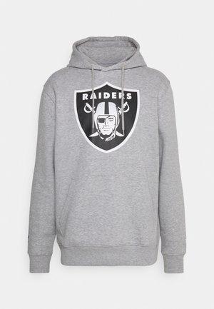 NFL LAS VEGAS RAIDERS MID ESSENTIALS CREST GRAPHIC HOODIE - Mikina skapucí - sports grey