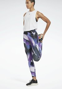 Reebok - REEBOK LUX BOLD LEGGINGS - Leggings - purple - 1