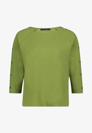 MIT KNOPFLEISTE - Sweatshirt - turtle green