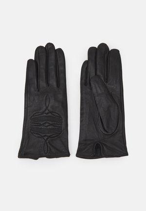 GANTS AVEC SURPIQURES - Fingervantar - black