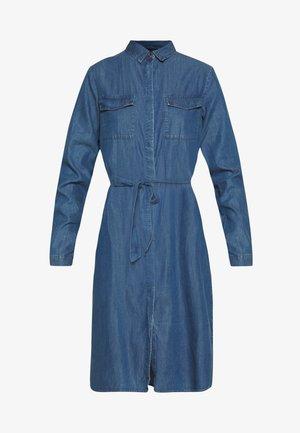 PCNISSA MIX DRESS CAMP - Kjole - dark blue denim
