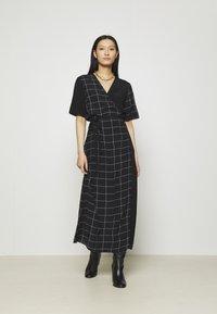 JUST FEMALE - HALLE WRAP DRESS - Maxi dress - dark blue - 1