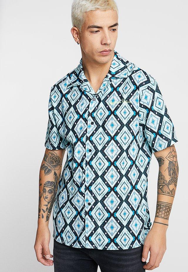 SHIRT IN ATZEC - Skjorta - teale aztec