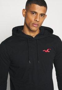 Hollister Co. - SNIT HOOD  - Long sleeved top - black - 3