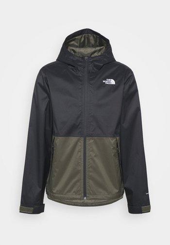 Waterproof jacket - olive/black