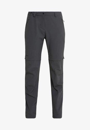 ASCONA ZIP OFF - Outdoor trousers - asphalt