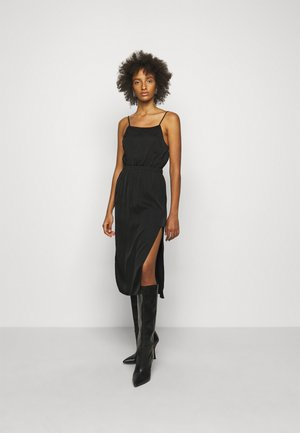 EMME FRONT DRESS - Shift dress - black