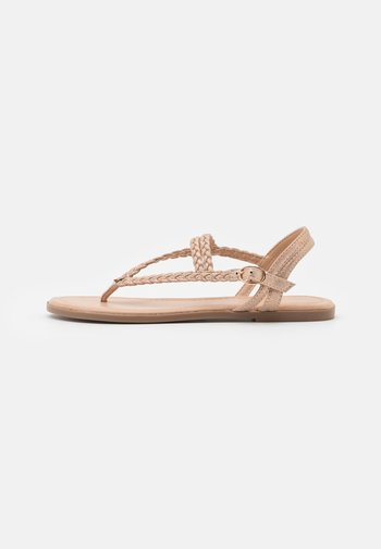 Tongs - rose gold coloured