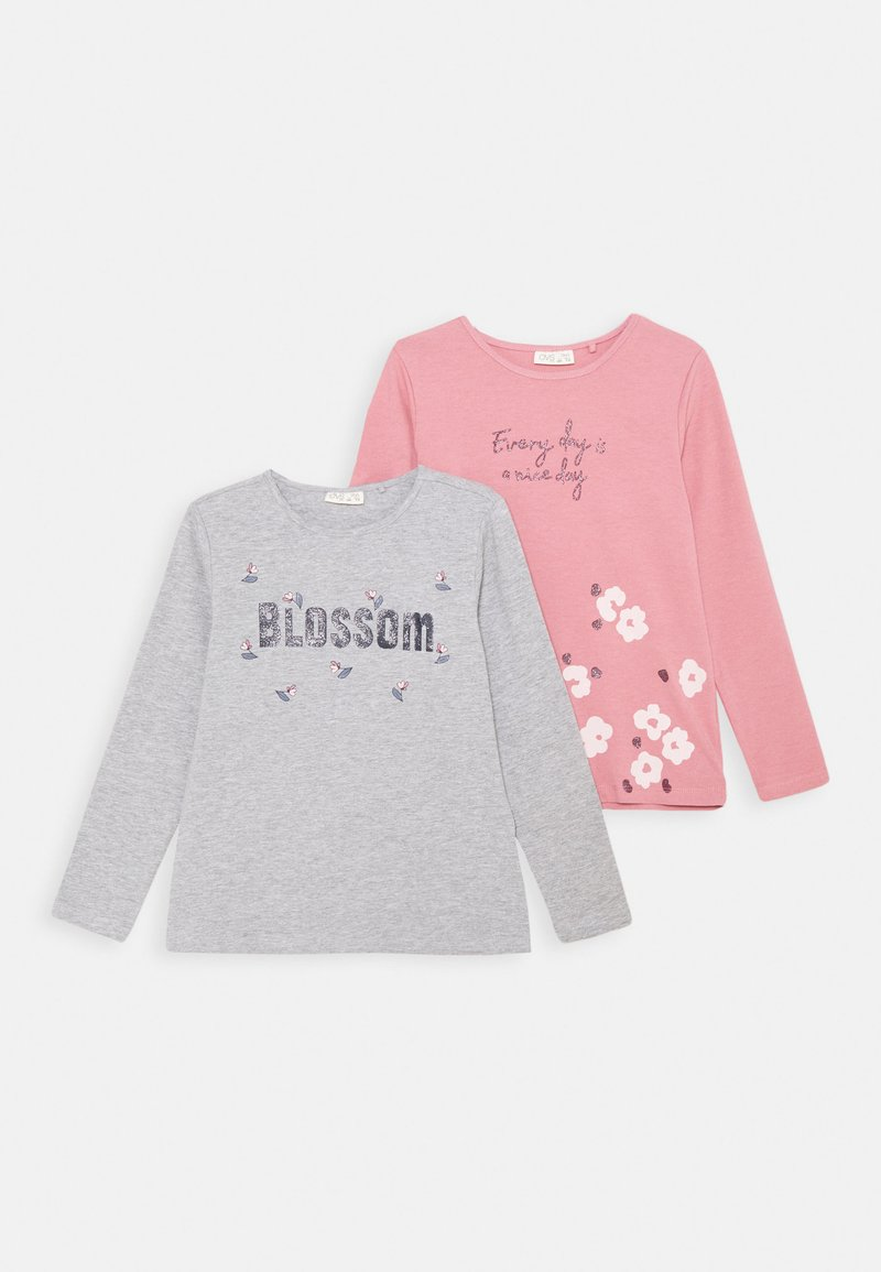 OVS - 2 PACK - Langærmede T-shirts - paloma/dusty rose