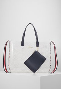 Tommy Hilfiger - ICONIC TOTE TRANSPARENT - Tote bag - white - 0