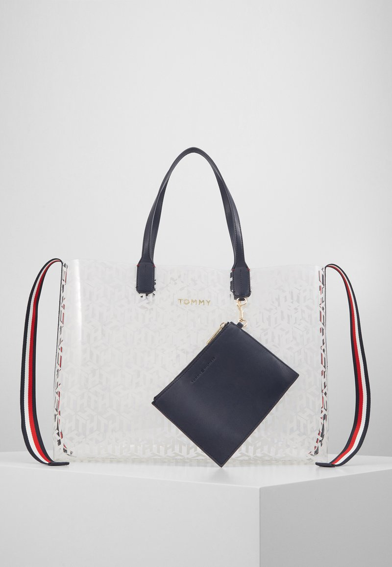 Tommy Hilfiger - ICONIC TOTE TRANSPARENT - Tote bag - white