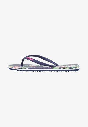 VINTAGE  - T-bar sandals - navy hawaiian
