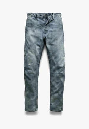 GRIP 3D RELAXED TAPERED - Jean boyfriend - faded bay burn destroyed