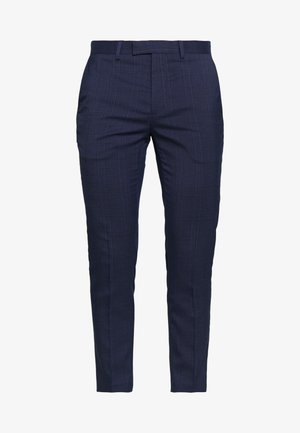 HIGHLIGHT CHECK - Trousers - navy