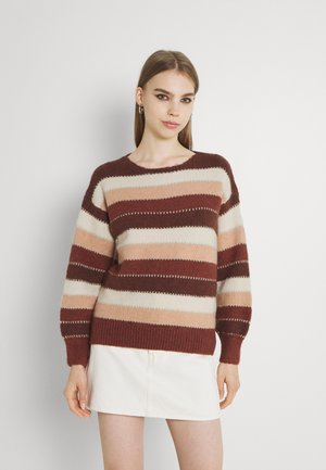 LADIES KNITTED SWEATER - Jumper - rust
