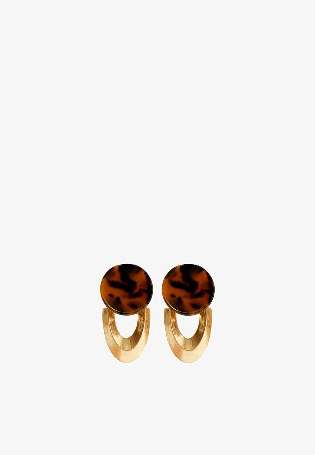 Oorbellen - brown