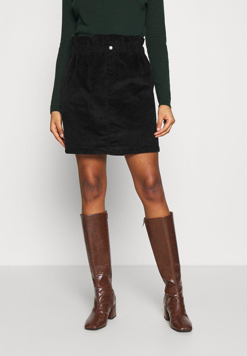 Noisy May - JUDO PAPERBAG SKIRT  - A-line skirt - black