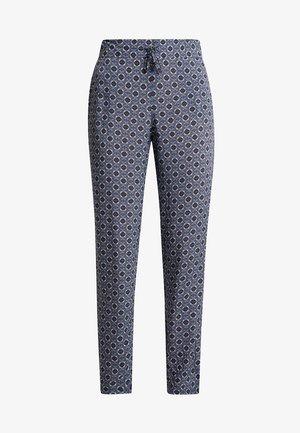 TILE PRINT PANTS - Trousers - purple/khaki