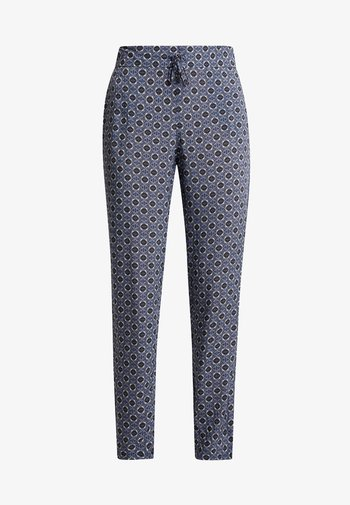 TILE PRINT PANTS - Pantalones - purple/khaki
