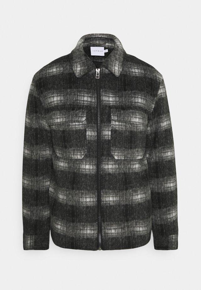 FADE CHECK - Light jacket - black