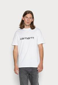 Carhartt WIP - SCRIPT - Print T-shirt - white/black - 0