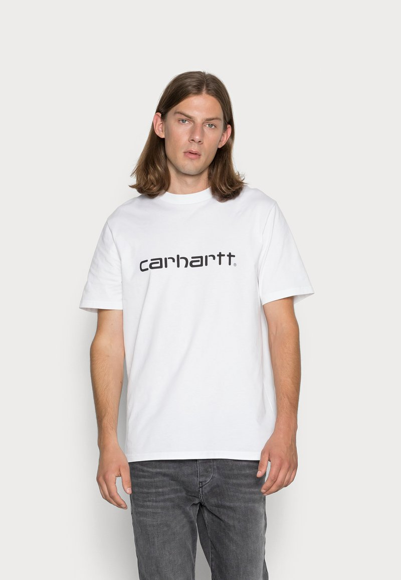 Carhartt WIP - SCRIPT - Print T-shirt - white/black