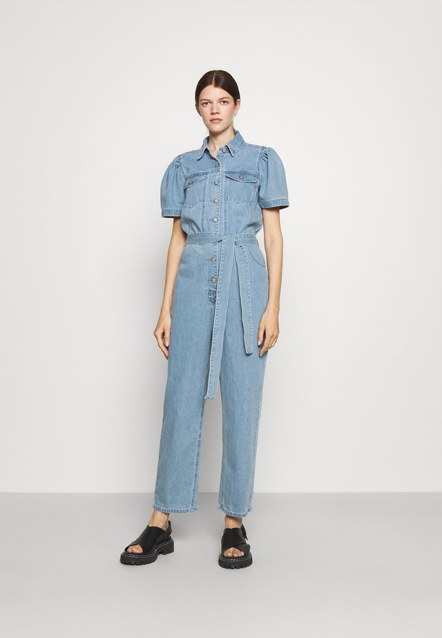 THE VINCENT PUFF SLEEVE  - Overal - light blue