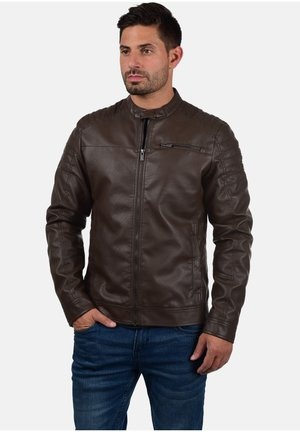 JUNCTION - Faux leather jacket - dark brown