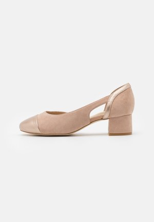 COMFORT LEATHER - Tacones - nude/gold