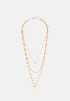 PCBLAIR COMBI NECKLACE - Halskæder - gold-coloured/green