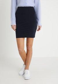 Kaffe - PENNY SKIRT - Pencil skirt - midnight marine - 0