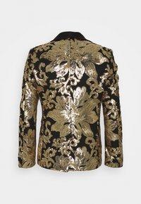Twisted Tailor - FARBER JACKET - Suit jacket - black/gold - 1